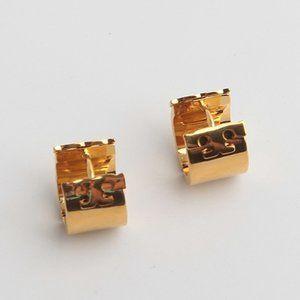Tory Burch Golden Glossy Small Earring Earrings